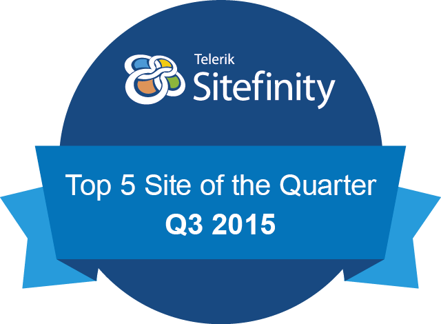 Telerik Sitefinity Website of the quarter